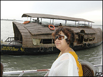 Taslima Nasreen in Calcutta