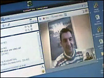 Video conferencing on a pc screen