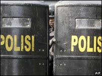 Indonesian police during a drill, file image