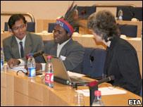 Knasaimos delegation in Brussels (Image: EIA/Telapak)