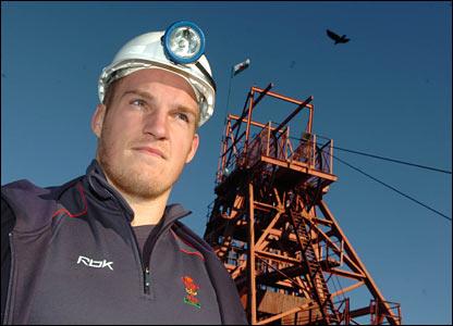 New Wales captain Gethin Jenkins at Big Pit
