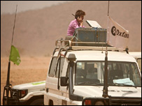 BBC correspondent Karen Allen files from Chad (BBC)