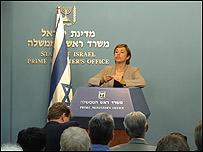 Miri Eisin, portavoz del Primer Ministro de Israel Ehud Olmert