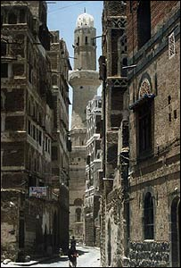 A street in the old quarter of Sanaa