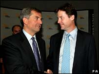 Huhne and Clegg