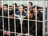 Люди, обвиняемые в организации событий в Андижане