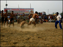 A kabaddi match