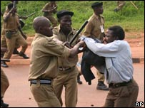 Protests in Kampala. 2311