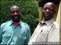 Innocent (left) and his father (Image: WildlifeDirect)