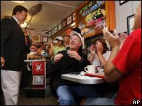 Democrat candidate Bill Richardson visits the Red Arrow Diner