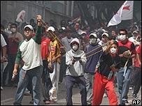 Manifestantes en Sucre.