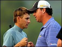 Heath Slocum (L) and Boo Weekley