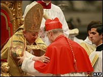 Pope Benedict XVI appoints a new cardinal