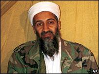 Osama Bin Laden in Afghanistan. Undated photo