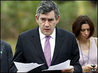 Gordon Brown at Uganda's Munyonyo resort
