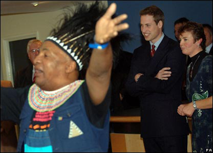 Prince William watching the performance