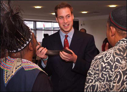 Prince William talks to members of the South African group