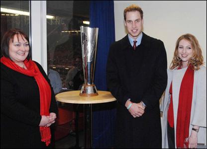 Nicola Palterman, Prince William and Mari Thomas
