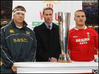 Prince William and the rugby captains