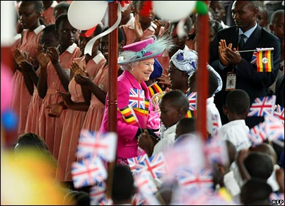 The Queen at Kitante Primary School in Kampala