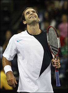 Incredibly though Sampras has the last word, beating the world number one 7-6 6-4. Time for a comeback?