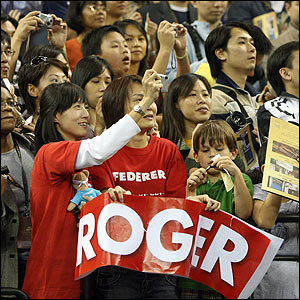 Roger Federer has plenty of fans in Macau ahead of the final match against Pete Sampras
