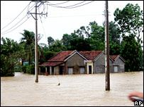 The effects of flooding in Phu Yen, Vietnam, Nov. 5, 2007 (File picture)