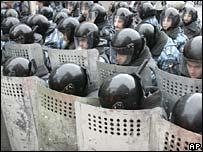 Carga policial en Moscú (24/11/07)