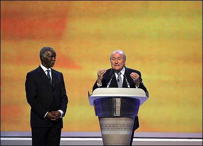 Blatter makes a speech