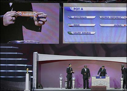 The Asia draw gets proceedings