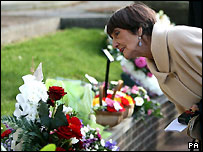 Actress June Brown at Hilda Braid's funeral