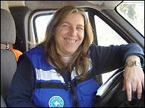 Silvia, técnico sanitario de Médicos del Mundo de Madrid