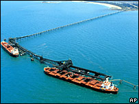 Coal terminal in Queensland, Australia