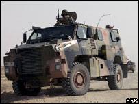Australian troops on patrol in Iraq