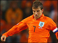 Rafael van der Vaart in action for Holland
