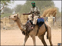 Arab militiaman in Darfur (file pic)