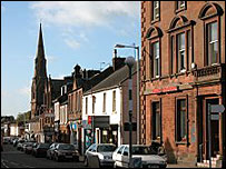 Lockerbie town centre - Undiscovered Scotland