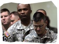 Impatient US Soldiers