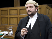 George Carter-Stephenson QC in a scene from TV drama The Verdict