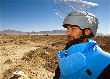 Afghan mine clearer