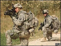 US soldiers in Iraq. File photo