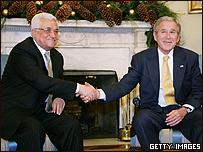 Abbas y Bush en la Casa Blanca