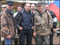 Mark Franchetti and Lugovoi with his old army friends