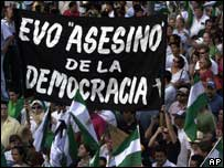 "Opposition demonstration in Santa Cruz  against Evo Morales accuses him of ""killing"" democracy"