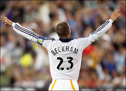 David Beckham's goal was popular with the huge Sydney crowd