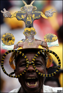 A South African football fan