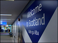 Welcome to Scotland message