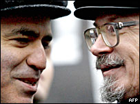 Лидеры 'Другой России' Гарри Каспаров и Эдуард Лимонов