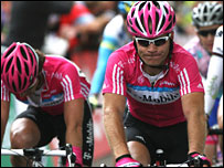 Briton Roger Hammond (right) in action for T-Mobile