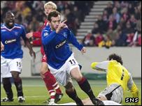 Charlie Adam gave Rangers the lead